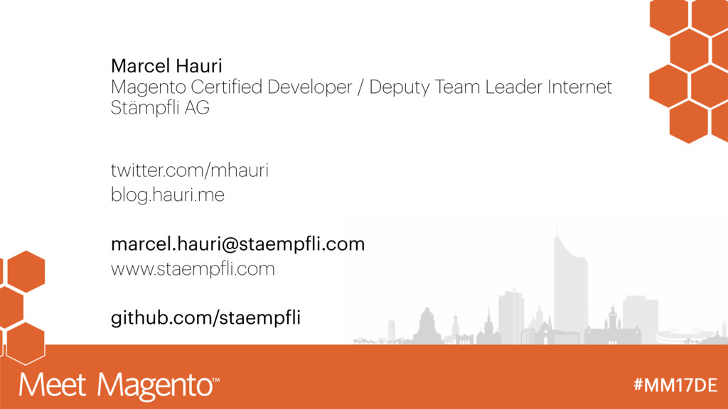 Marcel Hauri Magento Certified Developer / Depu...
