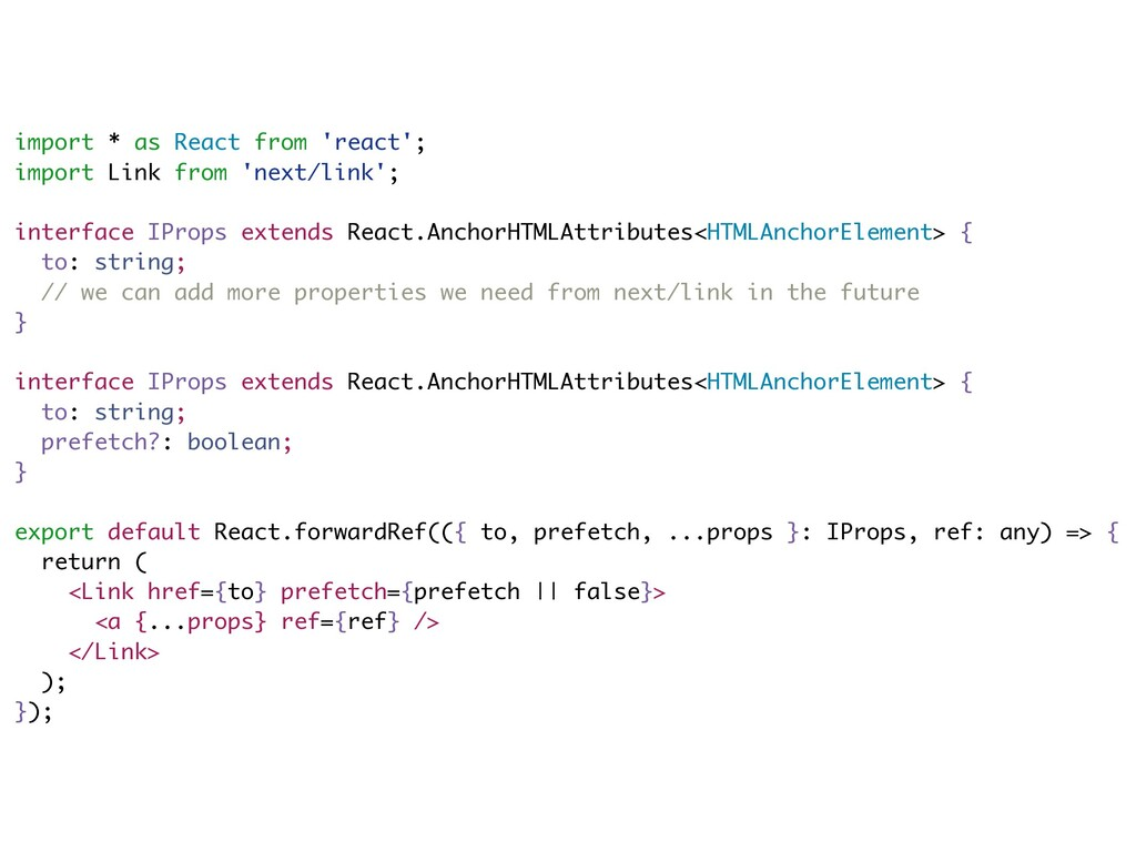 import * as React from 'react'; import Link fro...