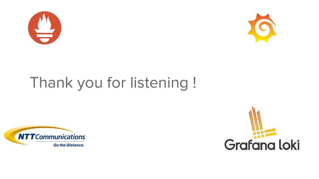 Thank you for listening !