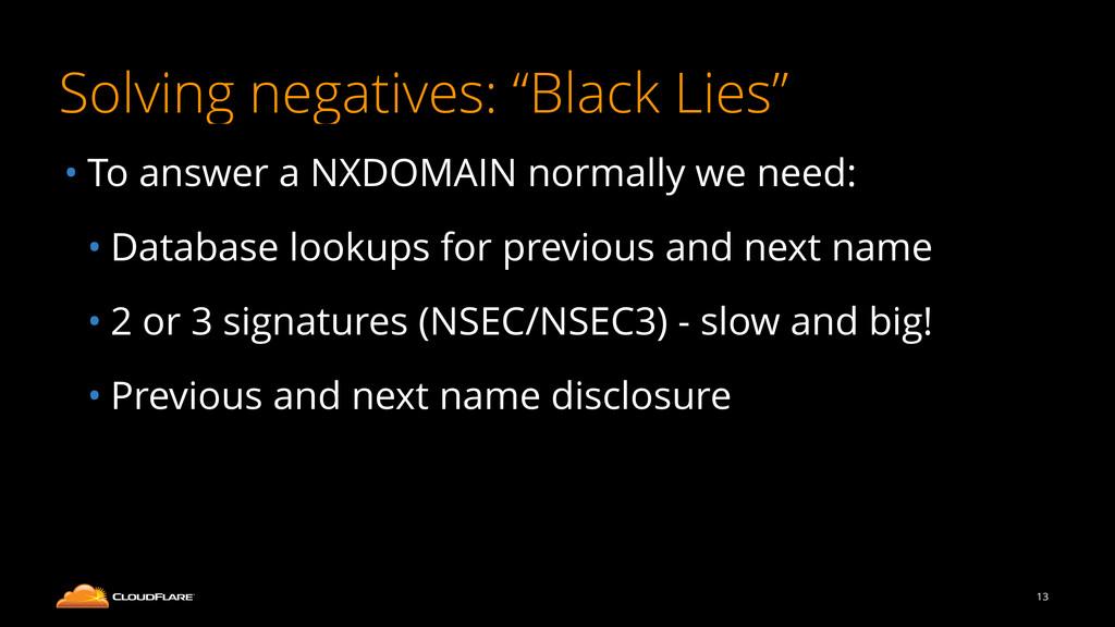 "Solving negatives: ""Black Lies"" • To answer a N..."