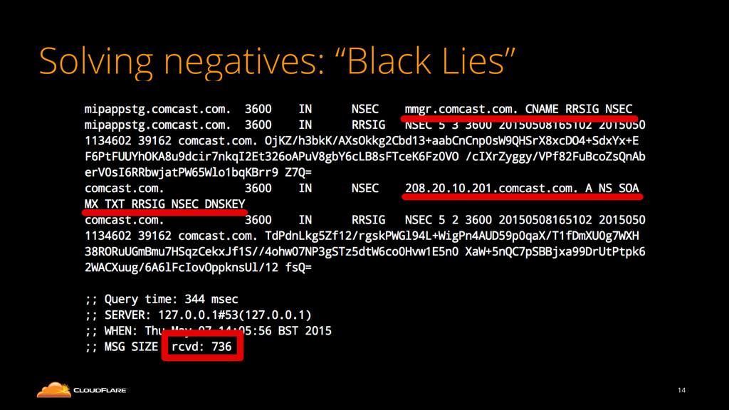 "Solving negatives: ""Black Lies"" 14"