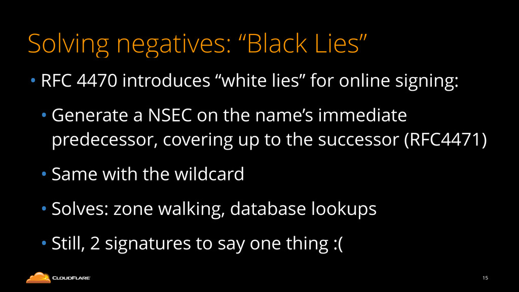 "Solving negatives: ""Black Lies"" • RFC 4470 intr..."