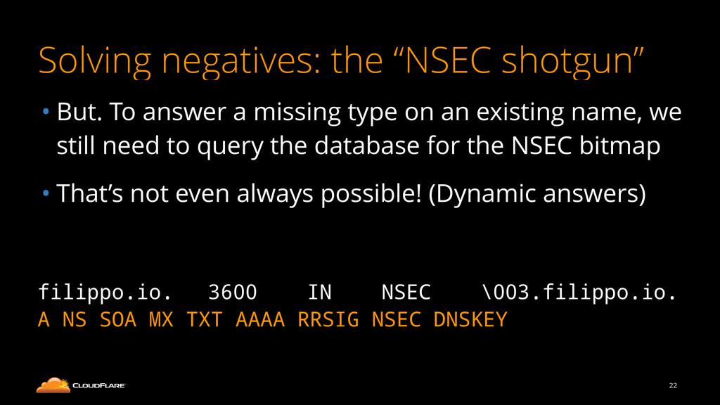 "Solving negatives: the ""NSEC shotgun"" • But. To..."