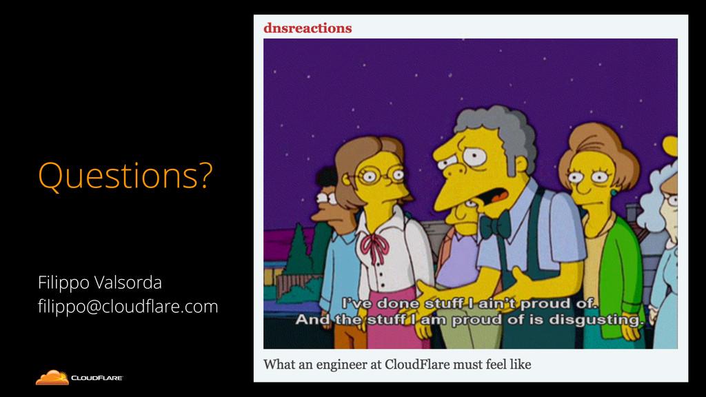 Questions? 28 Filippo Valsorda filippo@cloudflare...