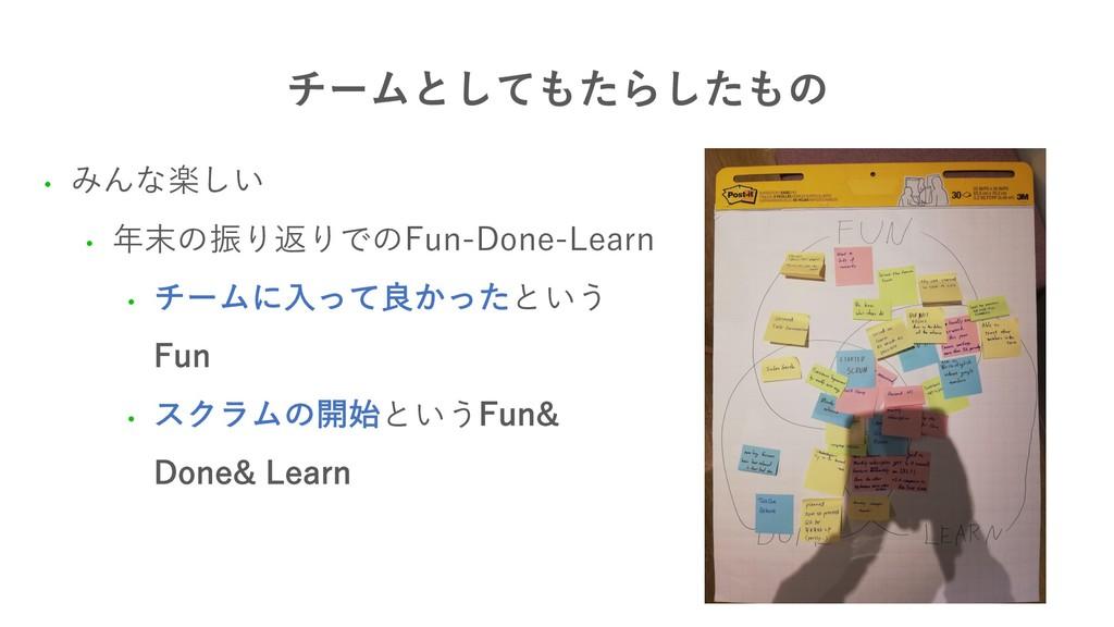 νʔϜͱͯͨ͠Βͨ͠ͷ • みんな楽しい • 年末の振り返りでのFun-Done-Lear...