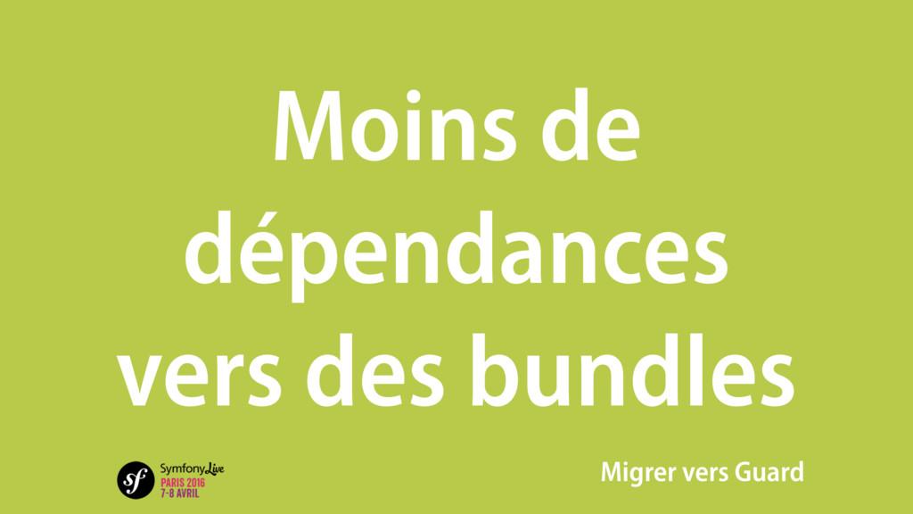 Moins de dépendances vers des bundles Migrer ve...