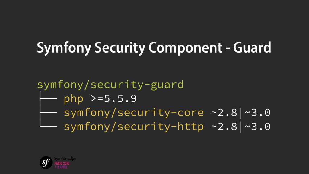 Symfony Security Component - Guard symfony/secu...