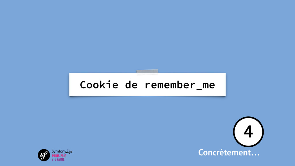 Cookie de remember_me Concrètement… 4