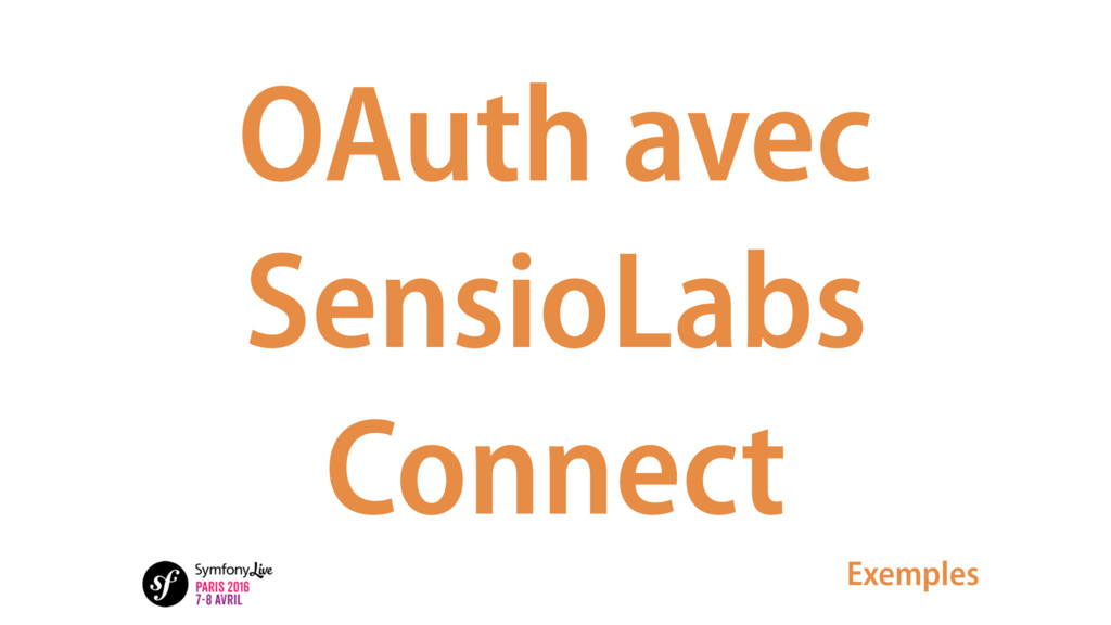 OAuth avec