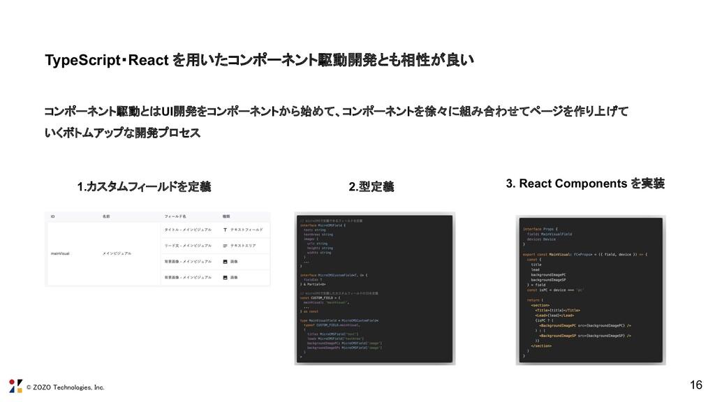 © ZOZO Technologies, Inc. TypeScript・React を用いた...