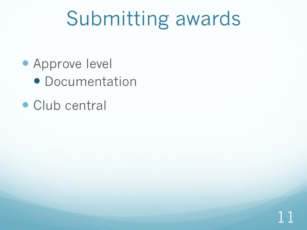 —Approve level —Documentation —Club central ...