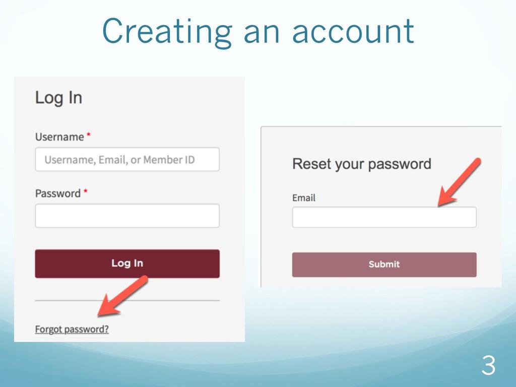 Creating an account 3