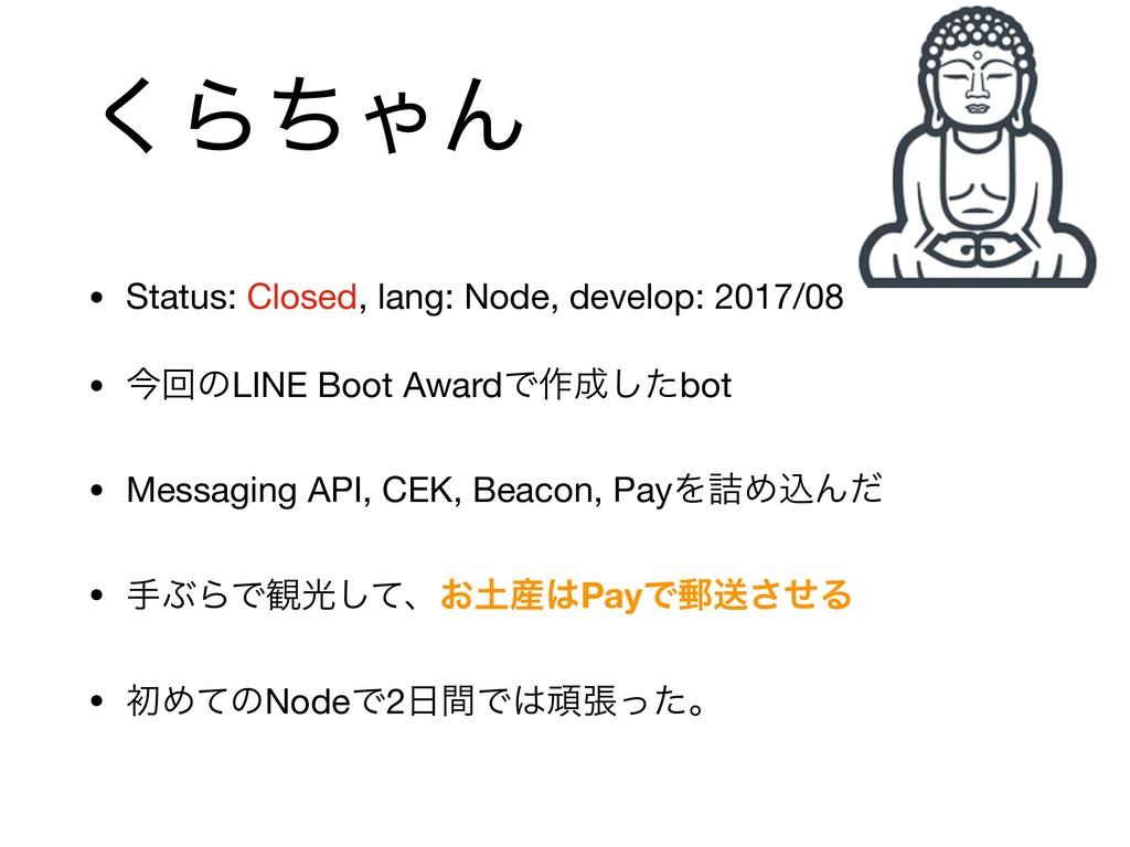 ͘ΒͪΌΜ • Status: Closed, lang: Node, develop: 20...