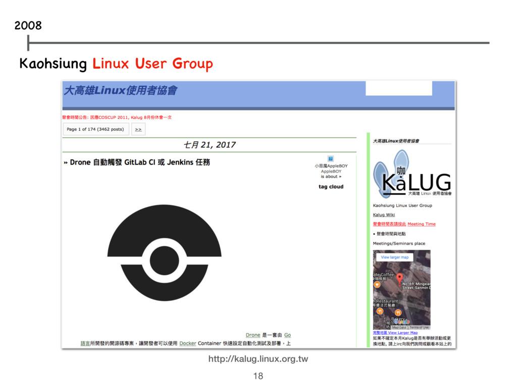 Kaohsiung Linux User Group http://kalug.linux.o...
