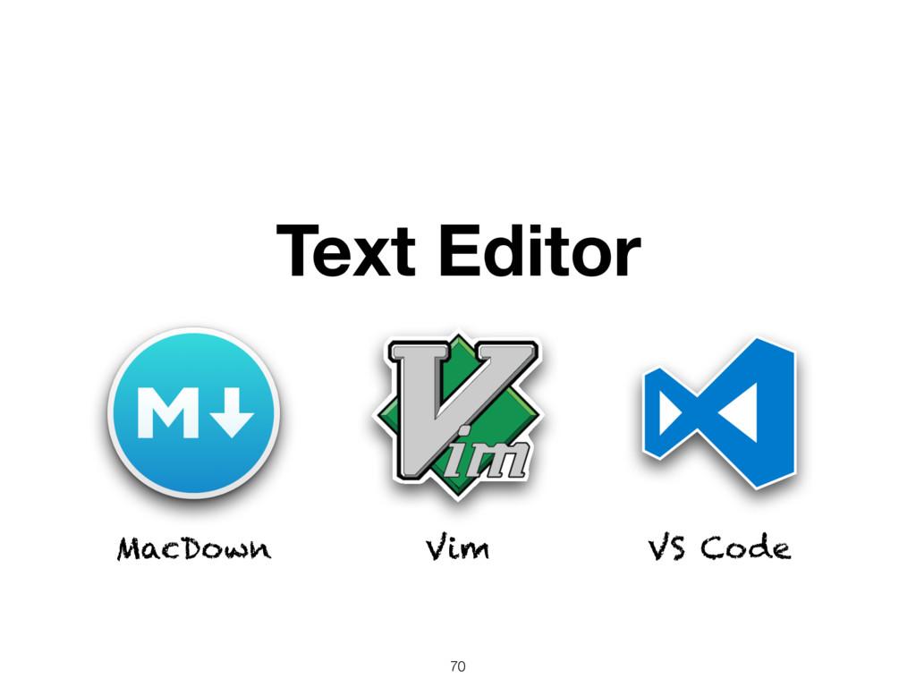 Text Editor MacDown Vim VS Code 70