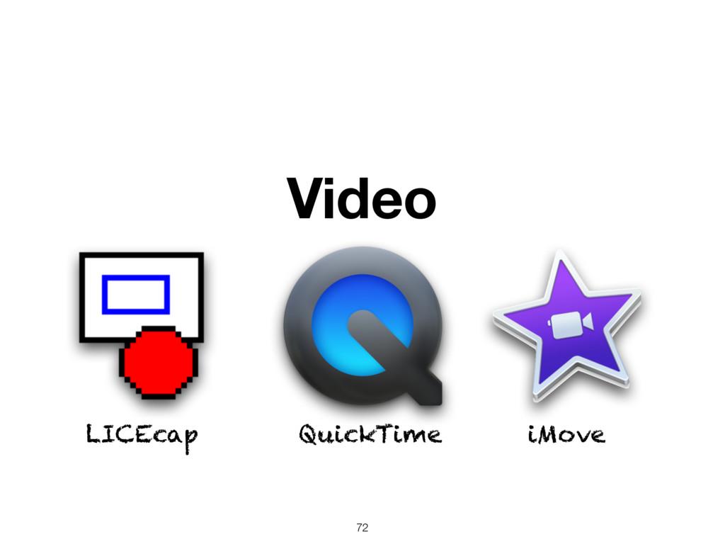 Video QuickTime iMove LICEcap 72