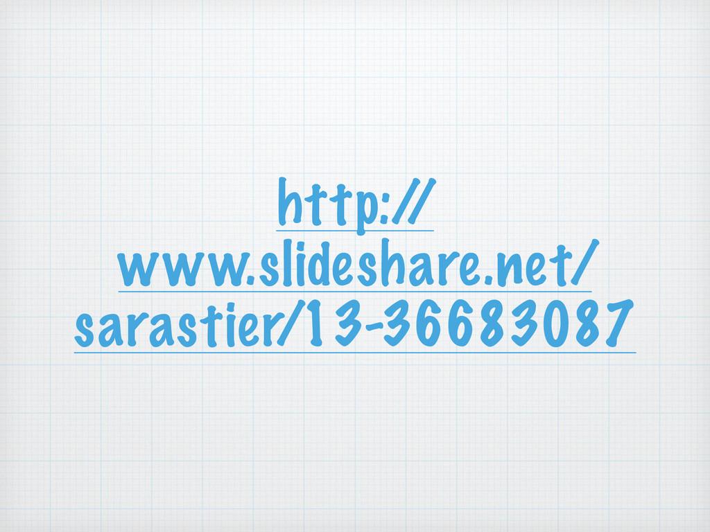 http:/ / www.slideshare.net/ sarastier/13-36683...