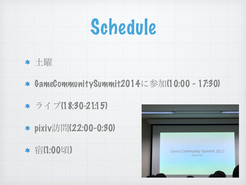 Schedule ༵ GameCommunitySummit2014ʹՃ(10:00 - ...