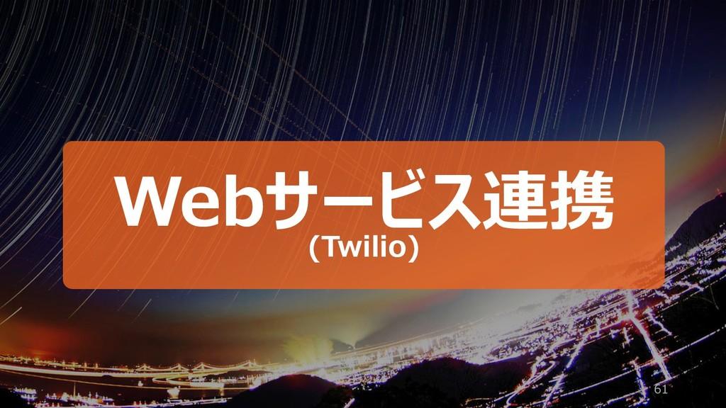 61 Webサービス連携 (Twilio)