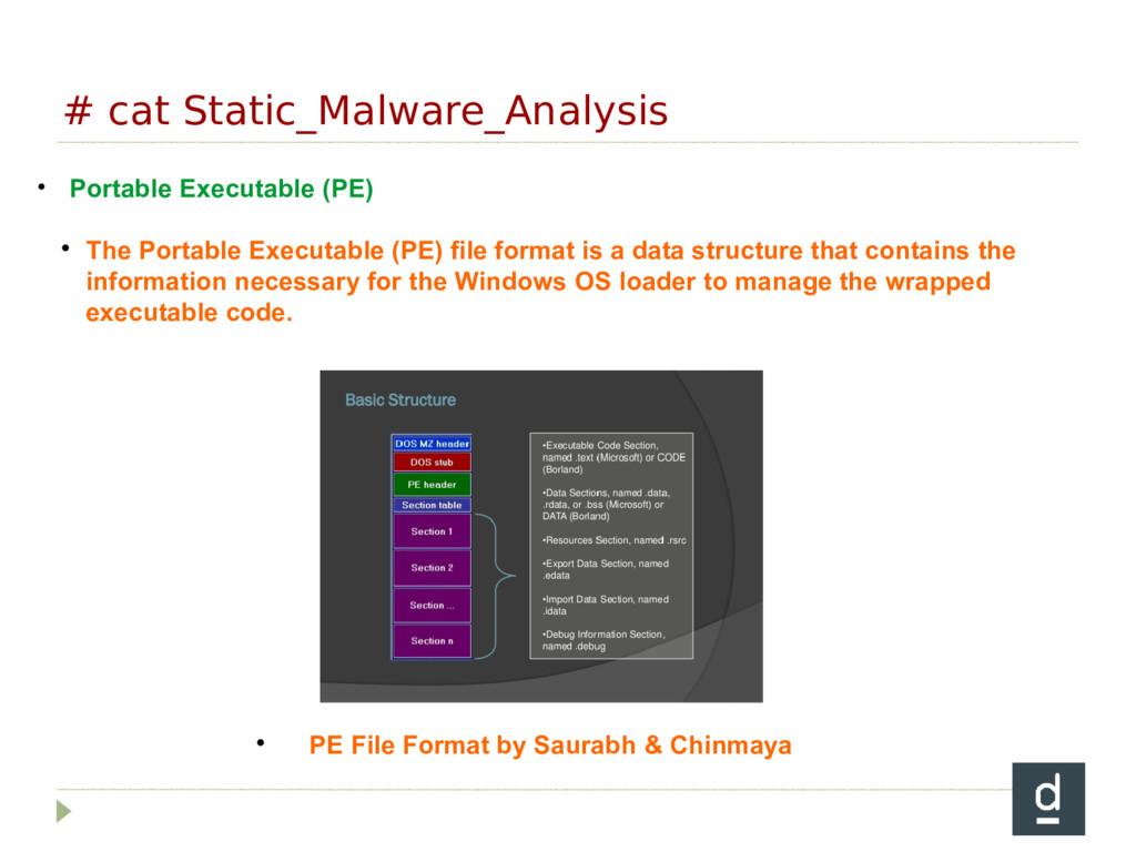 # cat Static_Malware_Analysis • Portable Execut...