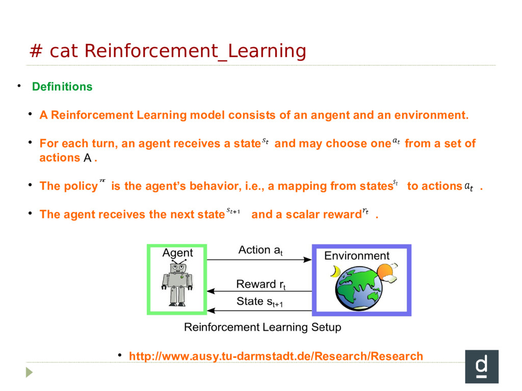 # cat Reinforcement_Learning • Definitions  A ...