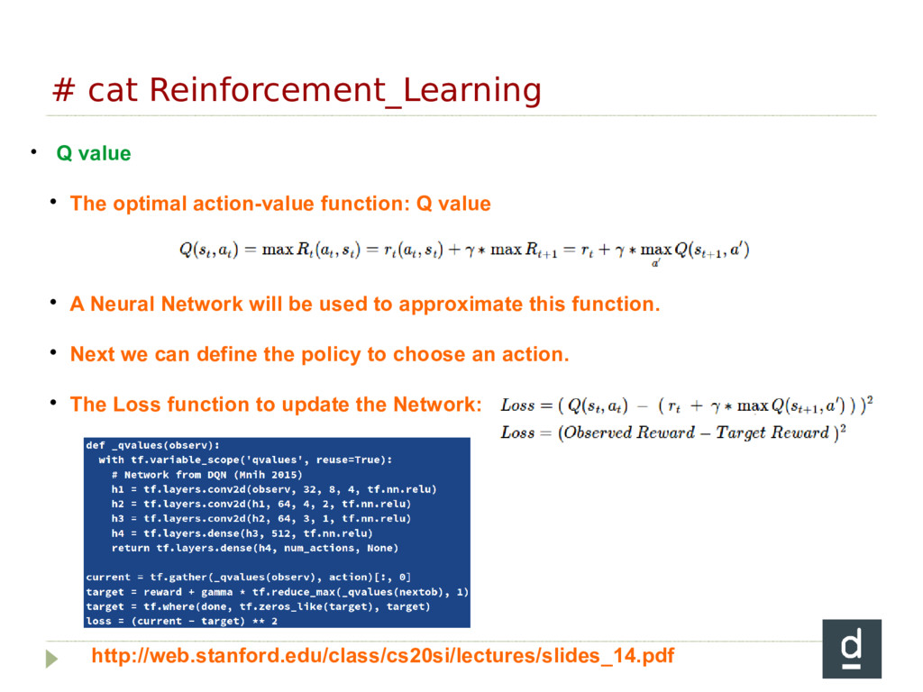 # cat Reinforcement_Learning • Q value  The op...