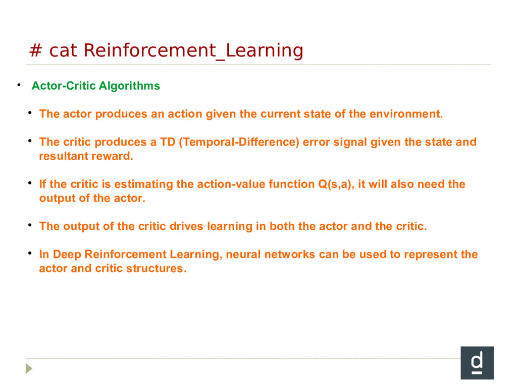 # cat Reinforcement_Learning • Actor-Critic Alg...
