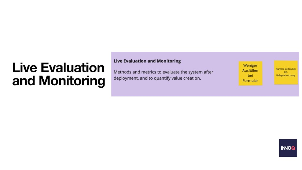 Live Evaluation and Monitoring