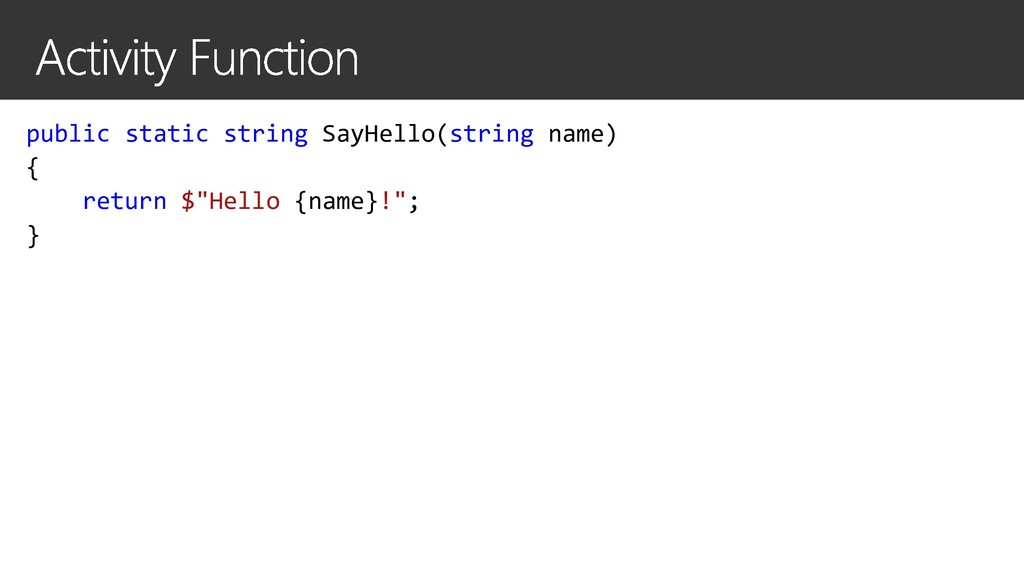 public static string SayHello(string name) { re...