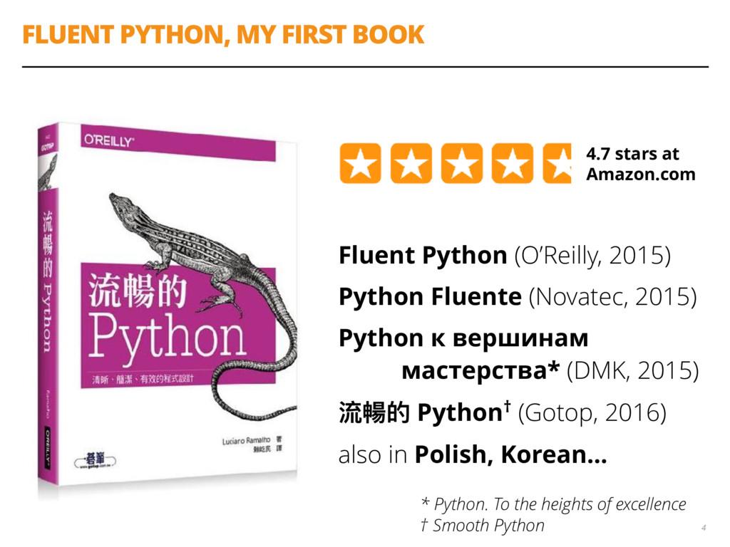 FLUENT PYTHON, MY FIRST BOOK Fluent Python (O'R...