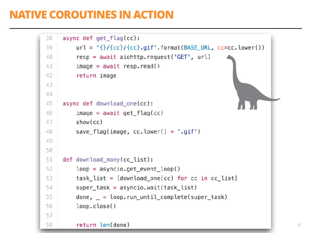 NATIVE COROUTINES IN ACTION 32