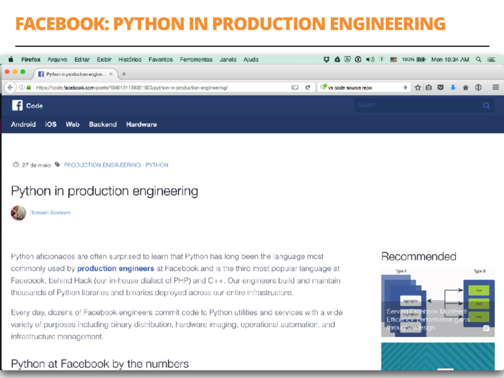FACEBOOK: PYTHON IN PRODUCTION ENGINEERING 54