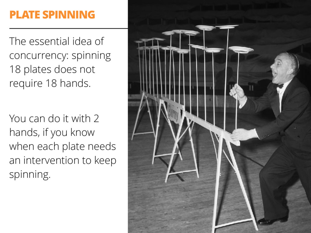 PLATE SPINNING The essential idea of concurrenc...