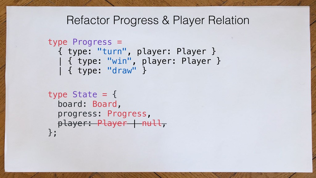 Refactor Progress & Player Relation type State ...