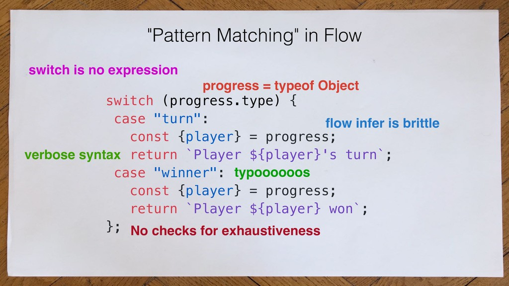 """Pattern Matching"" in Flow switch (progress.typ..."