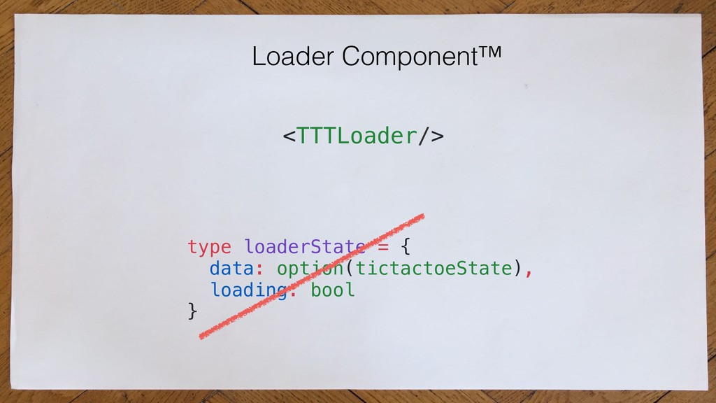 Loader Component™ <TTTLoader/> type loaderState...