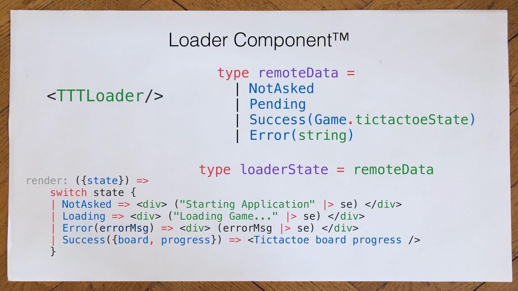 Loader Component™ <TTTLoader/> type remoteData ...