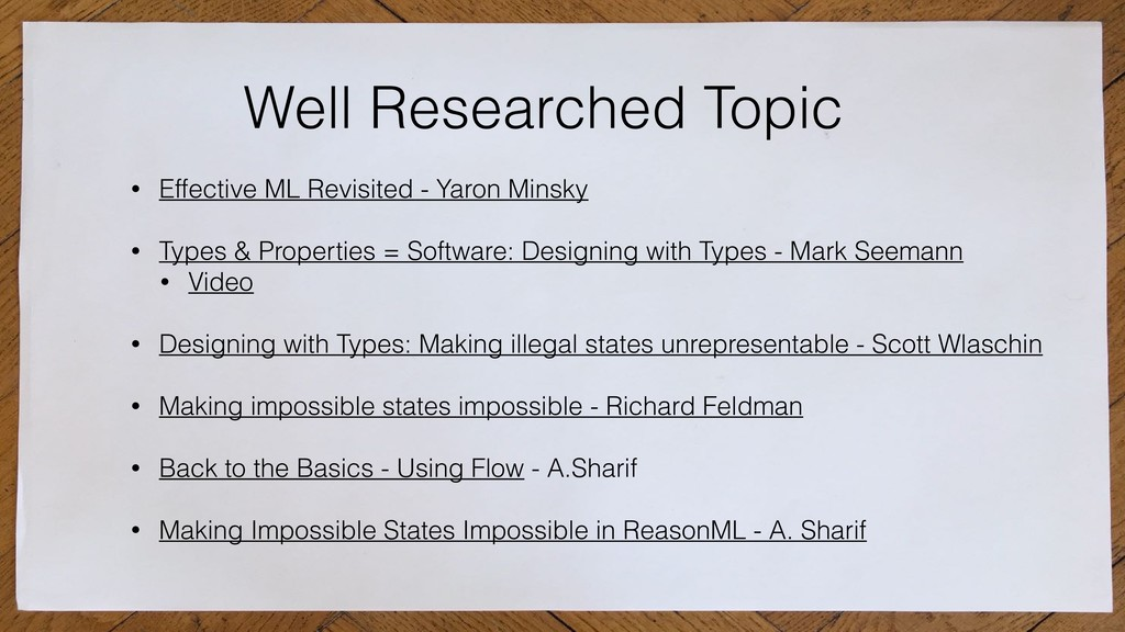 Well Researched Topic • Effective ML Revisited ...