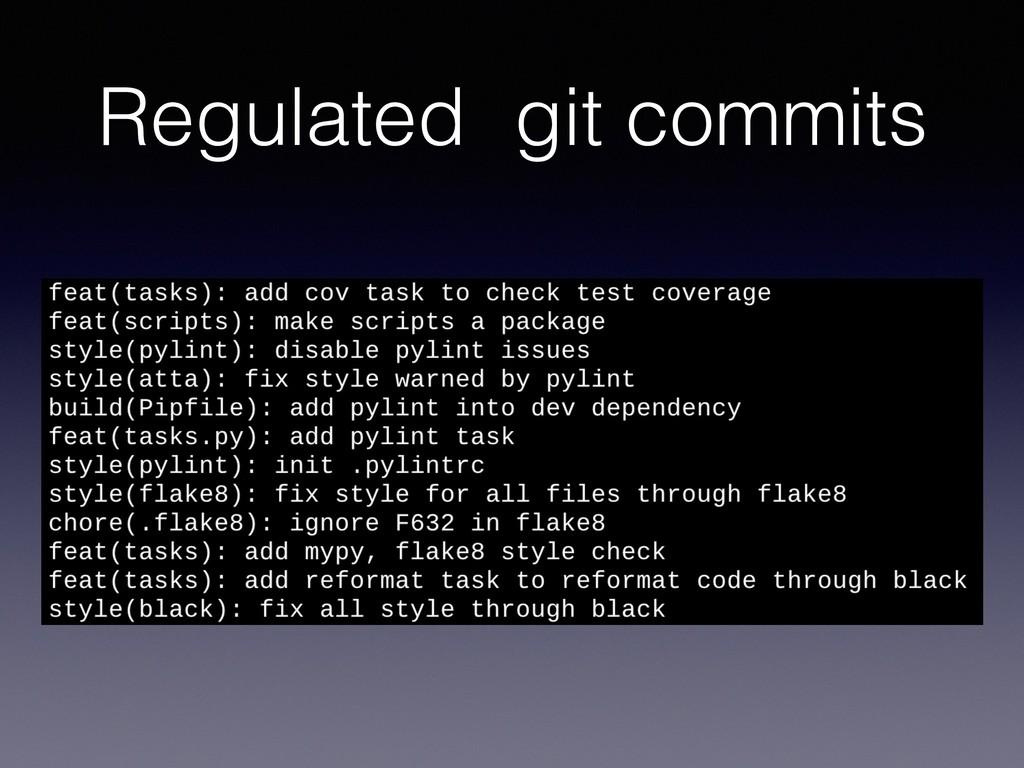 Regulated git commits
