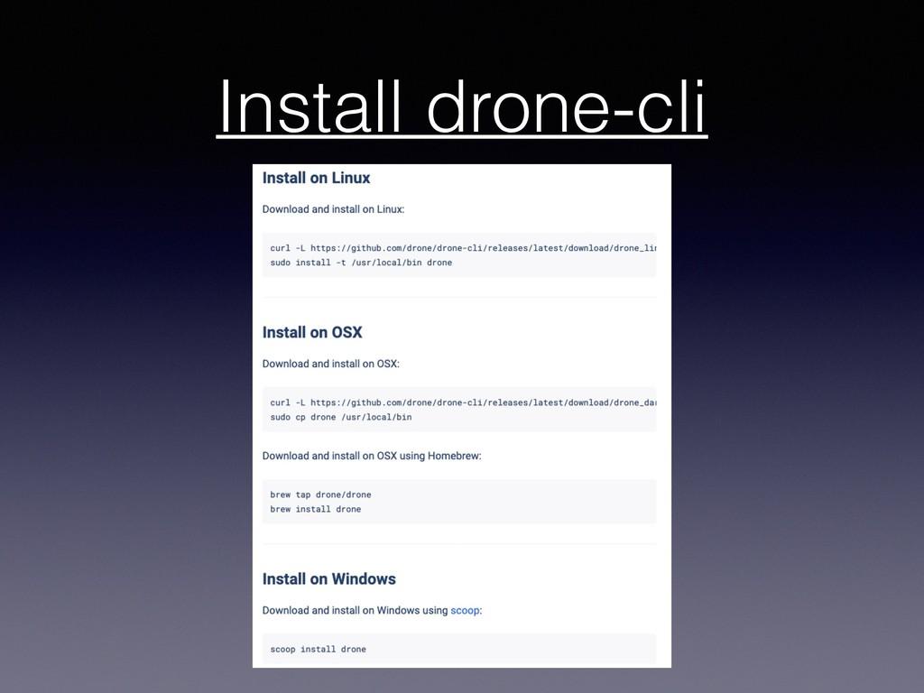 Install drone-cli