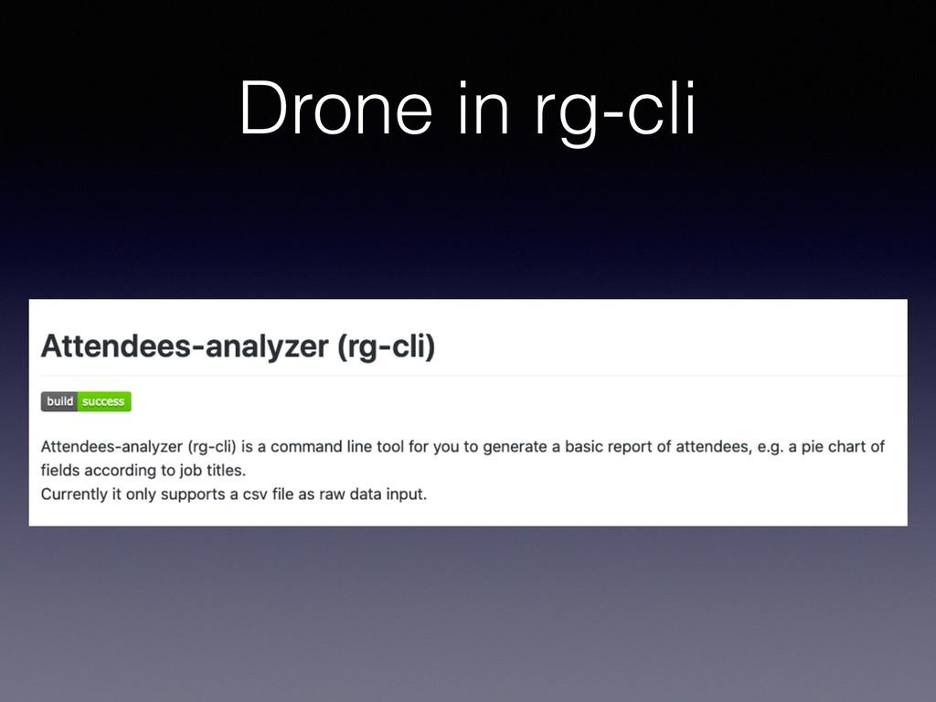 Drone in rg-cli