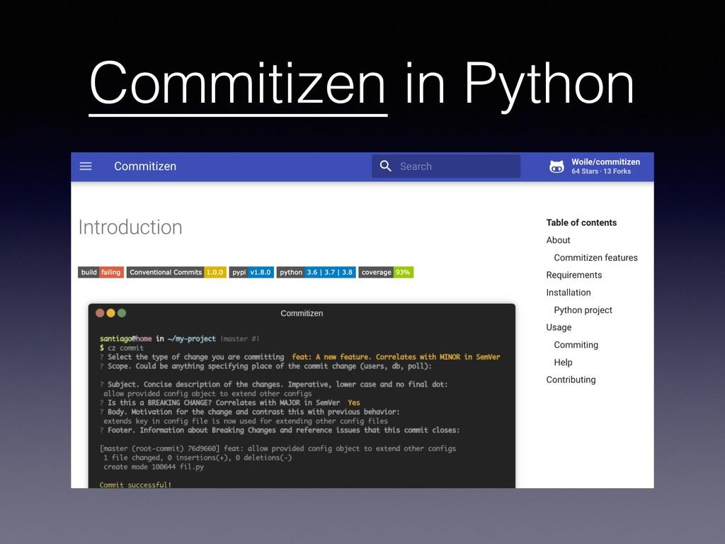 Commitizen in Python
