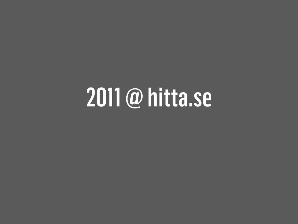 2011 @ hitta.se