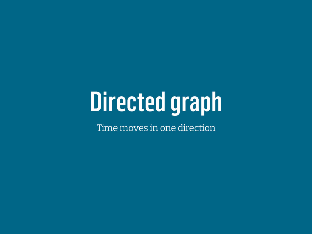 Directed graph Time moves in one direction