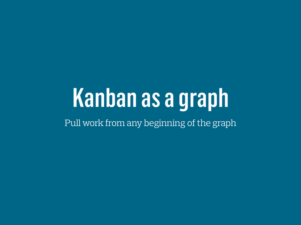 Kanban as a graph Pull work from any beginning ...