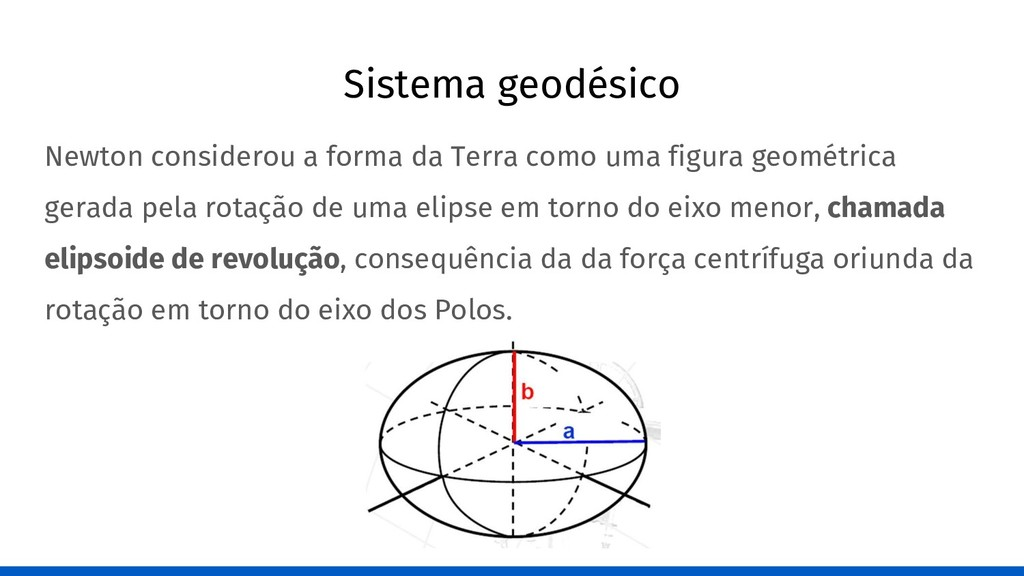Sistema geodésico Newton considerou a forma da ...