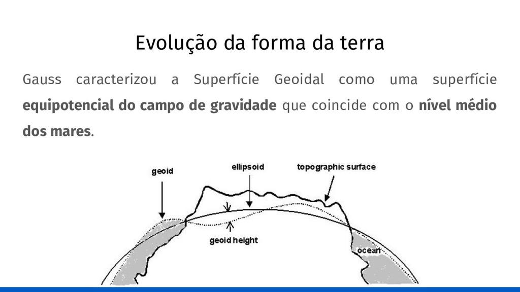 Evolução da forma da terra Gauss caracterizou a...