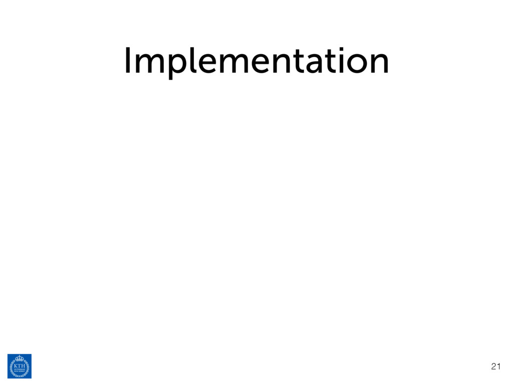 Implementation 21