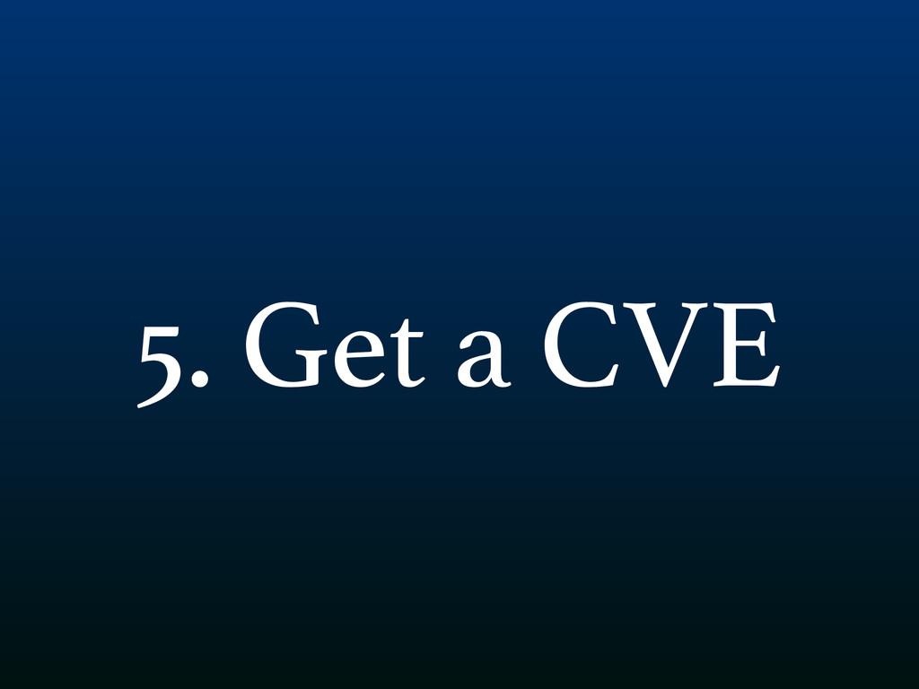 5. Get a CVE