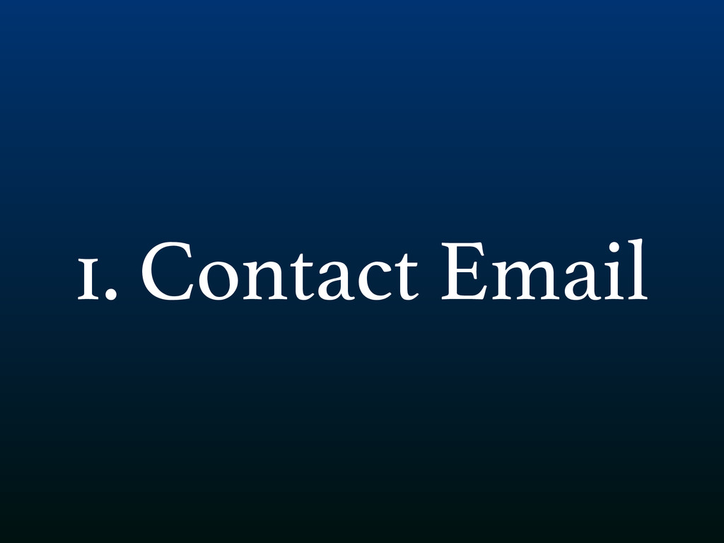 1. Contact Email